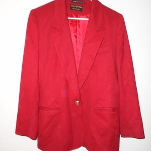 Giorgio Sant Angelo Collectible WOOL Gold Red Coat